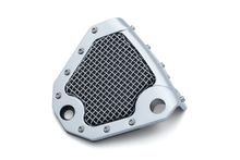Mesh Rear Caliper Cover- Chrome- Dyna & Softail