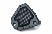 Mesh Rear Caliper Cover- Satin Black- Dyna & Softail