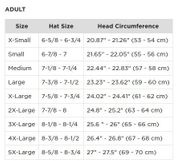 Motorcycle Helmet Sizing Chart