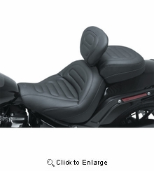 Mustang - MX Solo Touring Seat - Trapezoid Stitch - Driver's Backrest - '18-'20 FXFB/FXFBS