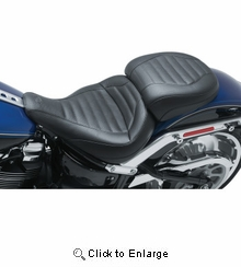 Mustang - Solo Touring Seat - Tuck and Roll - '18-'20 FLFB/FLFBS