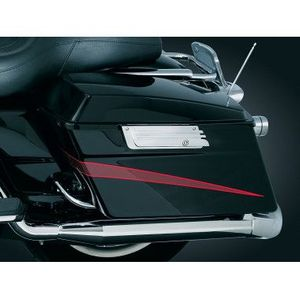 CHROME GROOVED SADDLEBAG LATCH COVERS