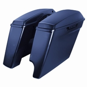 "'14-Present Harley 2-Into-1 Touring 4"" Stretched Saddlebags Big Blue Pearl"