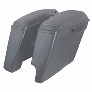 "'14-Present Harley 2-Into-1 Touring 4"" Stretched Saddlebags Charcoal Denim"