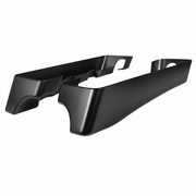 """'94-'13 Dual Exhaust 4"""" Saddlebag Extensions- UNPAINTED"""