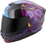 SCORPION EXO - EXO-R420 FULL-FACE HELMET SUGARSKULL BLACK/PINK