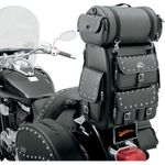 Saddlemen EX2200S Sissy Bar Bag w/ Studded Roll Bag