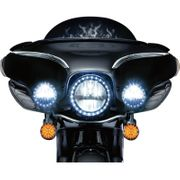 Kuryakyn Phase 7 LED Headlamp/Passing Lamps- Black
