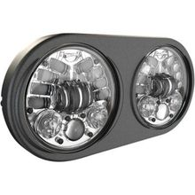 JW Speaker Adaptive 2 LED Headlights- Chrome