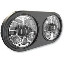 JW Speaker 5.75in LED Headlight- Chrome Inner Bezel
