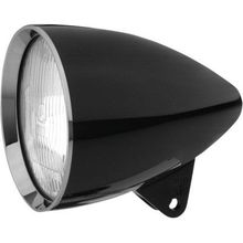 Headwinds Concours Rocket Smooth 5-3/4 in Headlight Housing- Black
