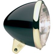 Headwinds Standard Bullet Smooth 5-3/4 in Headlight Housing- Black/Brass