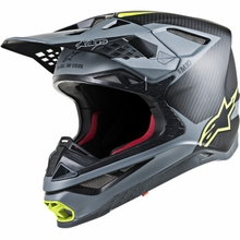 Alpinestars (MX) - Supertech M10 Helmet - MIPS - Black/Gray/Yellow Fluo
