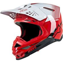 Alpinestars (MX) - Supertech M10 Helmet - Dyno - MIPS - Red/White