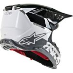 Alpinestars (MX) - Supertech M8 Helmet - Radium - MIPS - White/Black/Mid Gray Glossy