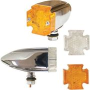 Emgo - LED Maltese Deco Lights - Amber and Clear Lens