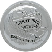 Drag Specialties - Live To Ride Gas Cap - Chrome - Vented