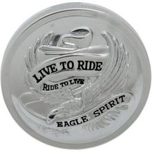 Drag Specialties - Live To Ride Gas Cap - Chrome - Non- Vented