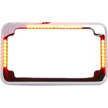 Cycle Vision Slick Signals-Flat-License Plate Frame-Chrome