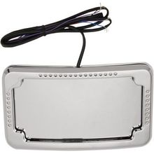 Cycle Visions Curved Slick Signals License Plate Frame w/ 3-Hole Backing Plate
