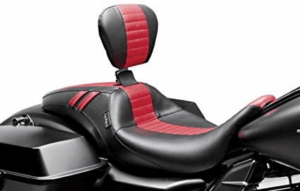Outcast GT Seat w/ Rider Backrest- Red Diamond