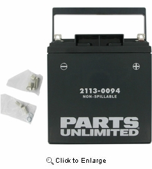 Parts Unlimited Factory-Activated AGM Maintenance Free Battery