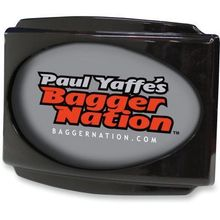 Paul Yaffe's Bagger Nation- CVO Universal Stealth III License Plate Frame -Black