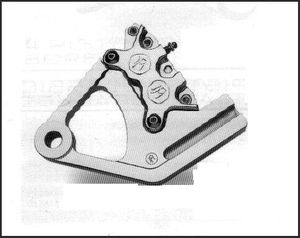 PMI 4 Piston Classic Caliper and Bracket for Softail Models