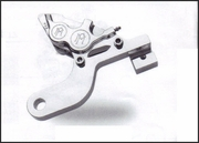 PMI 4 Piston Differential bore Caliper and Bracket for V-Rod Models