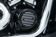 Kuryakyn Finned Timing Cover for Milwaukee-Eight� -  Satin Black & Machined