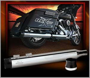 RCX-HAUST Thunder Black Slip-on Mufflers