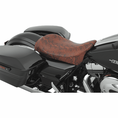 Red Faux Python Low-Profile Solo Seat
