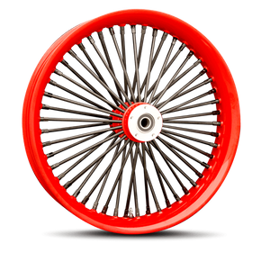 Red Outer Lip & Black Spokes