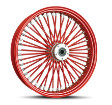 Red Spokes & Chrome Nipples