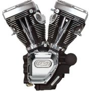 S & S Cycles Long-Block Engine-Wrinkle Black/Chrome