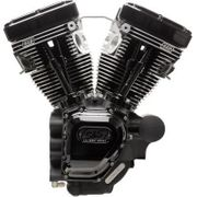 S&S Cycles T124HC Series Long-Block Engine- Black