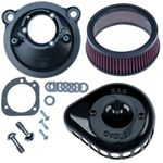 S&S® Gloss Black Mini Teardrop Stealth Air Cleaner Kit for 2007-'18 xl
