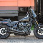 S&S Grand National® 2-2 Exhaust System, Black with Black End Caps for 2018 HD® Softail® Models