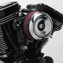 S&S® Stealth Air Cleaner Kit With Dished Bobber Cover