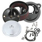 S&S® Stealth Air Cleaner Kit With S&S® Chrome Domed Bobber Air Cleaner Cover