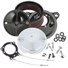 S&S® Stealth Air Cleaner Kit With S&S® Chrome Muscle Air Cleaner Cover