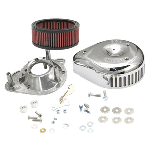 """S&S® Teardrop/Slasher Air Cleaner Kit For S&S® Super E & G Carburetors For S&S® 4-1/8"""" Bore V and T-Series Engines"""