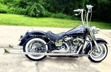 SAMSON  True Duals Fishtails for Softail in Chrome