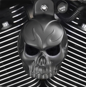 Satin Black Evil Twin Skull Cover