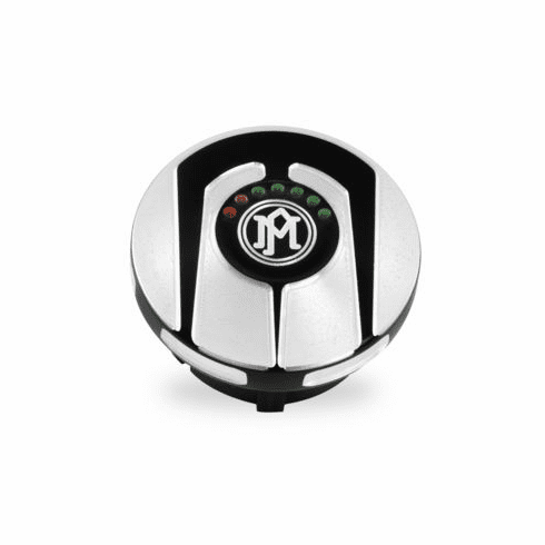 Scallop LED Gauge Fuel Cap- Contrast Cut