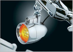 Silver Bullet LED Lights with Handlebar Control Swivel Mounts