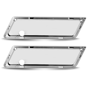 Slot Track Saddlebag Latch Cover - Chrome
