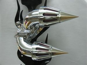 Small Chrome Cones with 360 Degree Slots