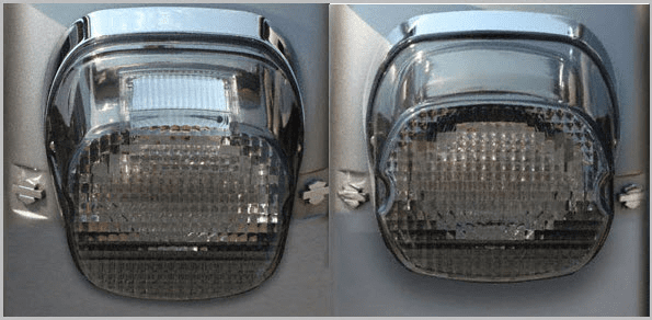 Smoked Laydown LED Tail Light for HD Models 99 - 10