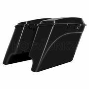 "'94-'13 Stretched Saddlebags 4"" Extended Vivid Black"